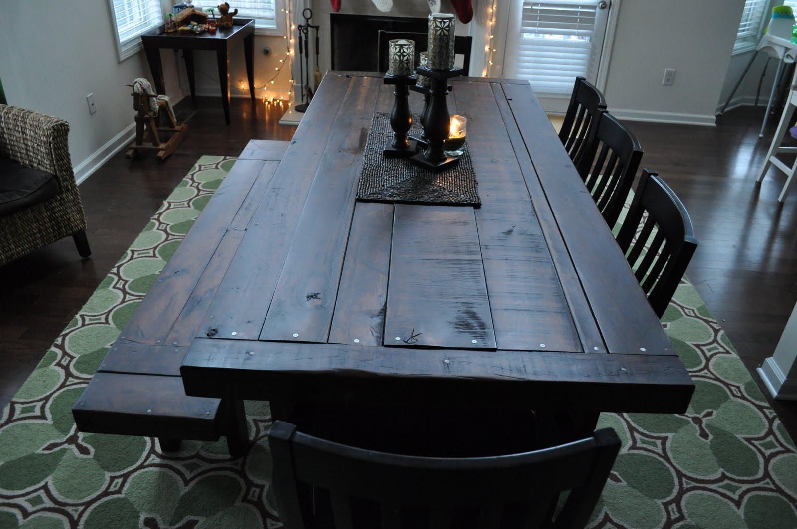 the clayton dining table atlanta georgia rustic trades furniture