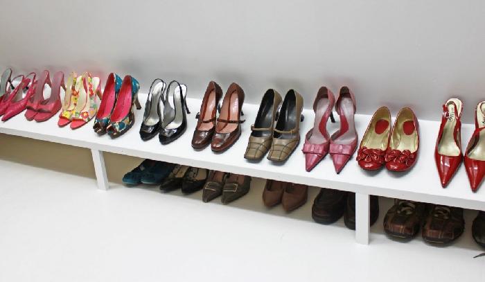 DIY shoe rack