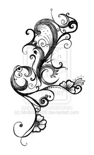 SEE MORE TATTOO IDEA BLACK AND WHITE FLOWERBlack And White Flower Tattoo