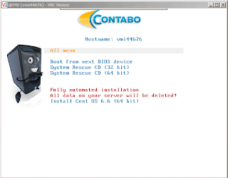vnc access feature from contabo