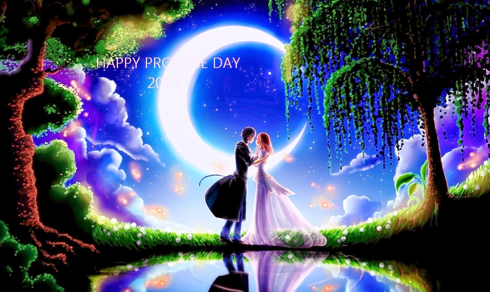 Happy propose day amazing painting wallpapers