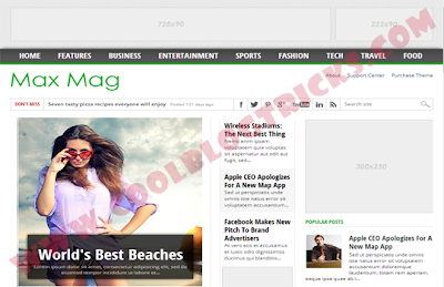 MaxMag - Responsive Blogger Template