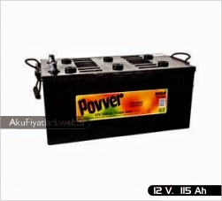 povver akü ağır hizmet serisi 12 volt 115 amper