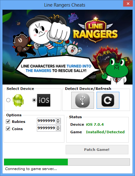 Line Rangers Android Gamer Hack Pack screen