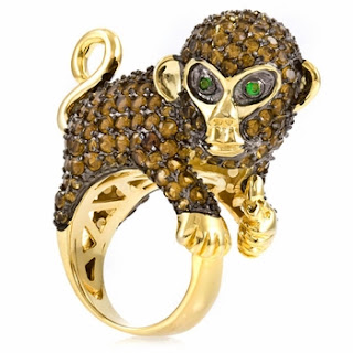 monkey cocktail ring