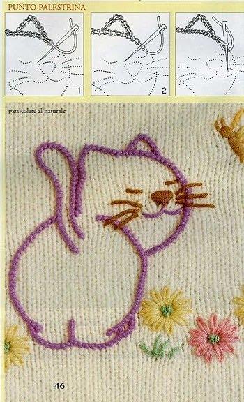 Как вышивать по вязанию 96