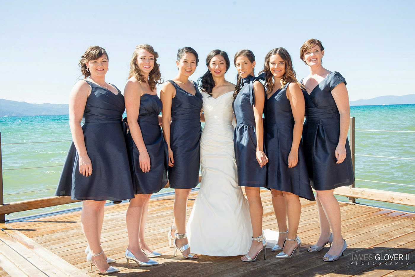 Navy Bridesmaids Dresses | James Glover Photography | Take the Cake Events