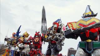 Tokumei Sentai Go-Busters vs. Gokaiger Mecha Gokai Change Daizyujin GaoKing GekiTouja DaiBouken MagiKing