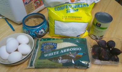 Рисовая запеканка с кокосовым молоком и фигами