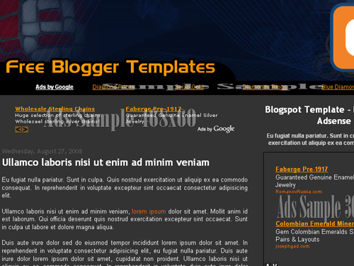 3 Column New Blogger Template