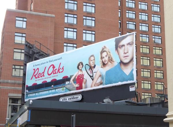 Red Oaks series launch billboard NYC
