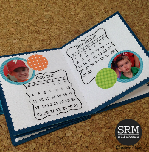 SRM Stickers - Mini Calendar Star Album by Christine - #srmstickers #mini calendar #calendar #album #2015 #stickers