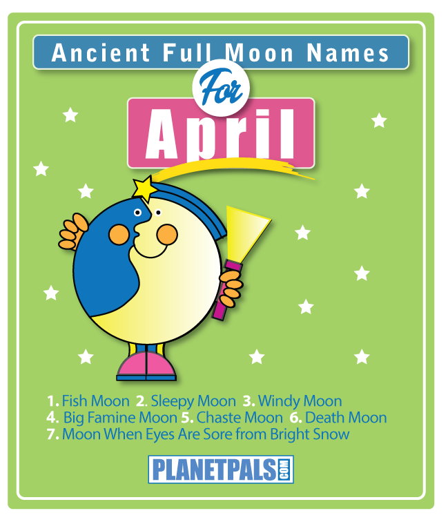 Ancient full moon names for the April Moon