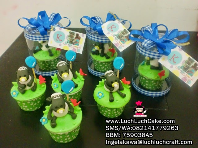 Cupcake Lucu Shaun The Sheep Untuk Souvenir
