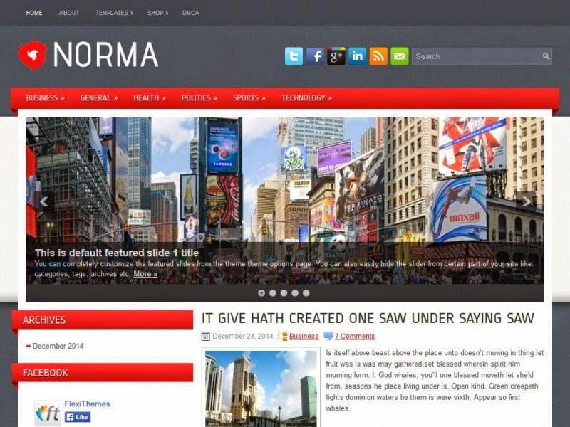 Norma - Free Wordpress Theme