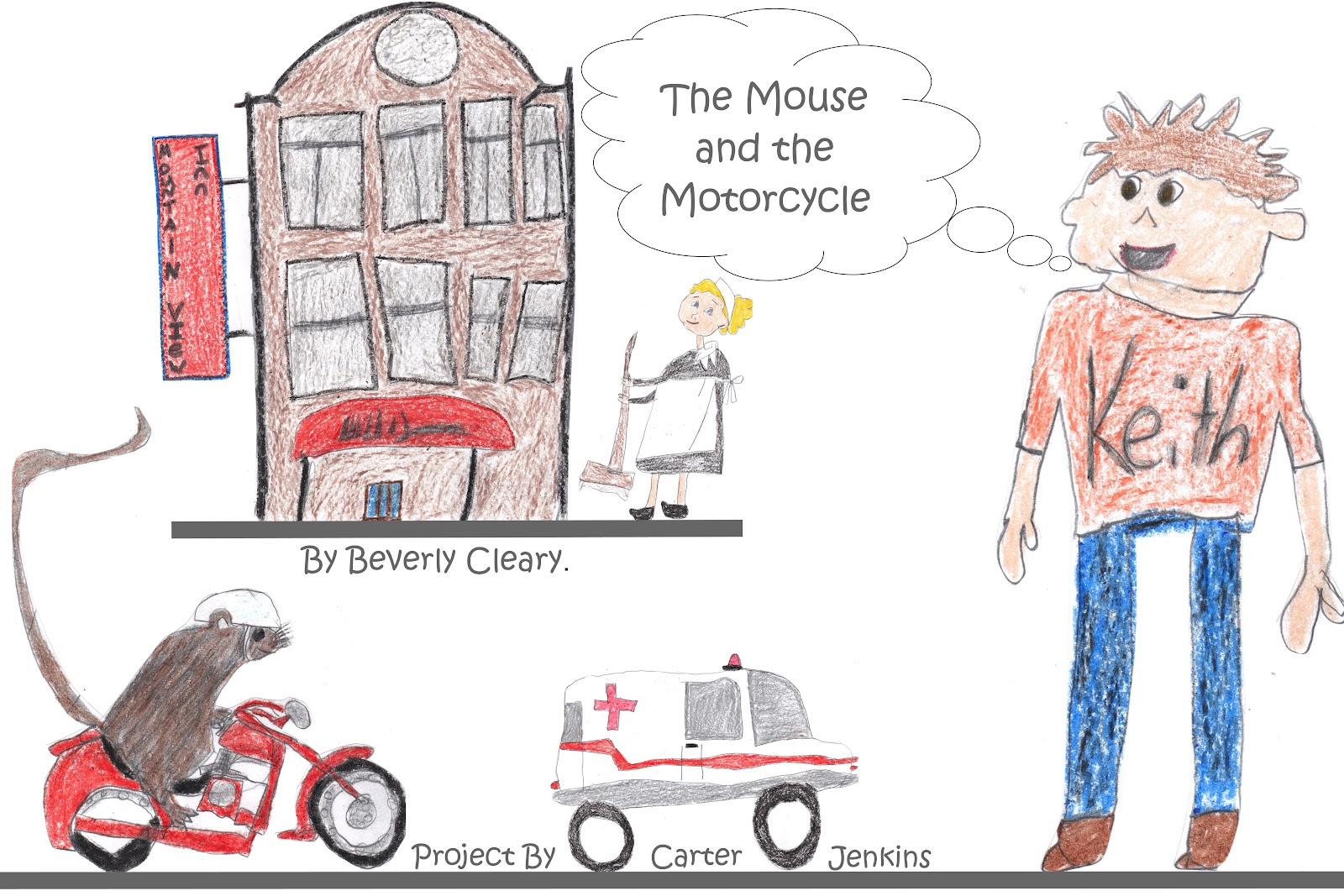 the mouse and the motorcycle coloring pages - pin ambulance coloring pages for kids on pinterest