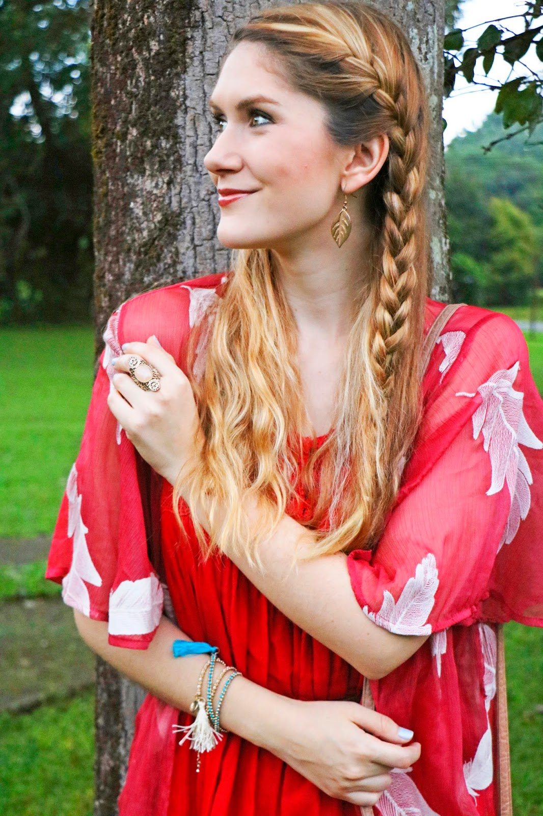 Gorgeous braided hairstyle for Summer