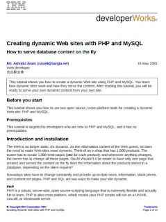 Creating dynamic Web sites with PHP and MySQL
