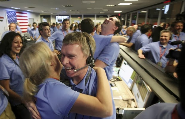 NASA celebrates the successful landing of the Curiosity Rover