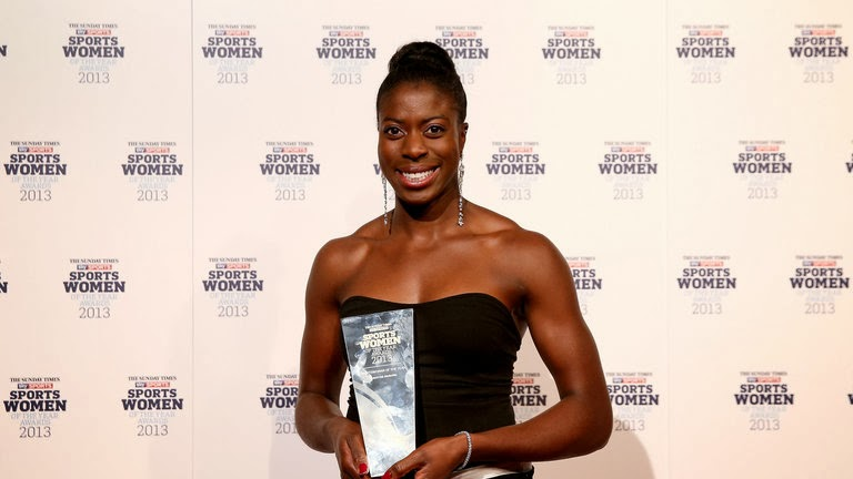 British born Nigerian Christine Ohuruogu has been named Sunday Times and Sky Sports Sportswoman of the Year