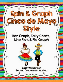http://www.teacherspayteachers.com/Product/Spin-Graph-Cinco-de-Mayo-Bar-Graph-Tally-Chart-Line-Plot-Pie-Graph-1207310