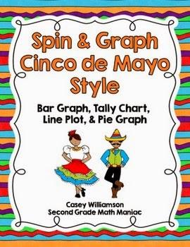 http://www.teacherspayteachers.com/Product/Spin-Graph-Cinco-de-Mayo-Bar-Graph-Tally-Chart-Line-Plot-Pie-Graph-1207310