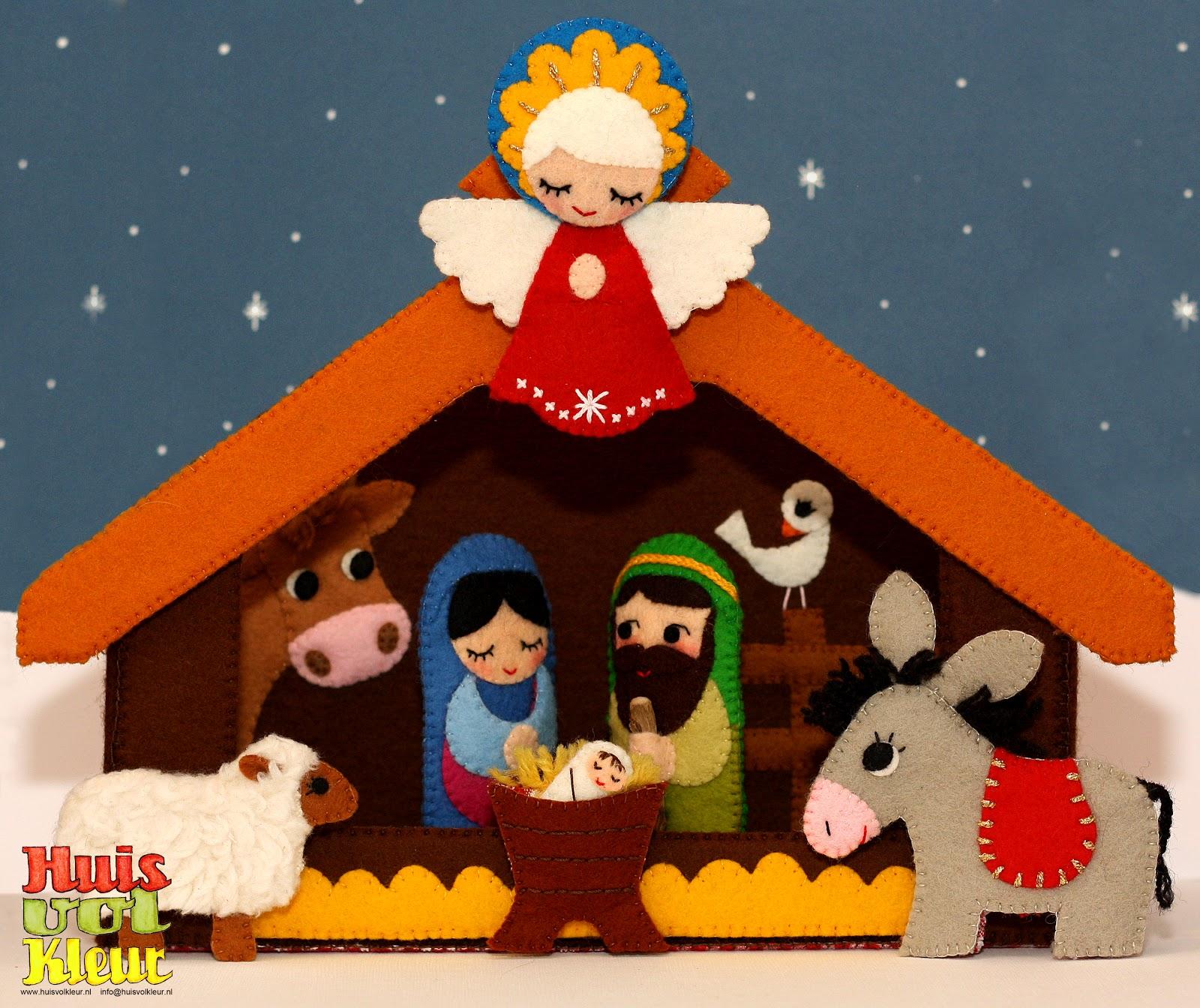 Huisvolkleur de kerststal - Scene di natale a colori ...