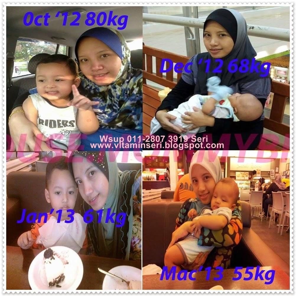 Bayangkan dari berat 80kg Kini kurus 55kg dengan Set Sliming Shaklee dan Diet Sihat Aida Yadin
