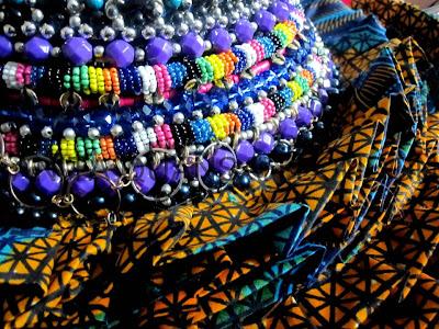 Anita Quansah african fabric Victorian piece close up - iloveankara.blogspot.co.uk