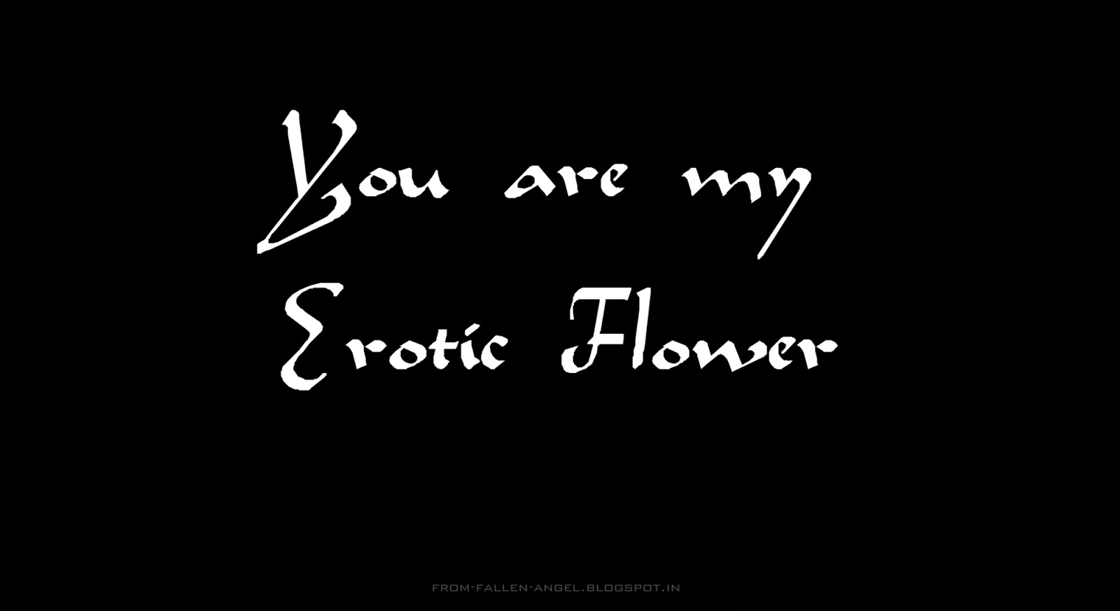 You are my Erotic Flower