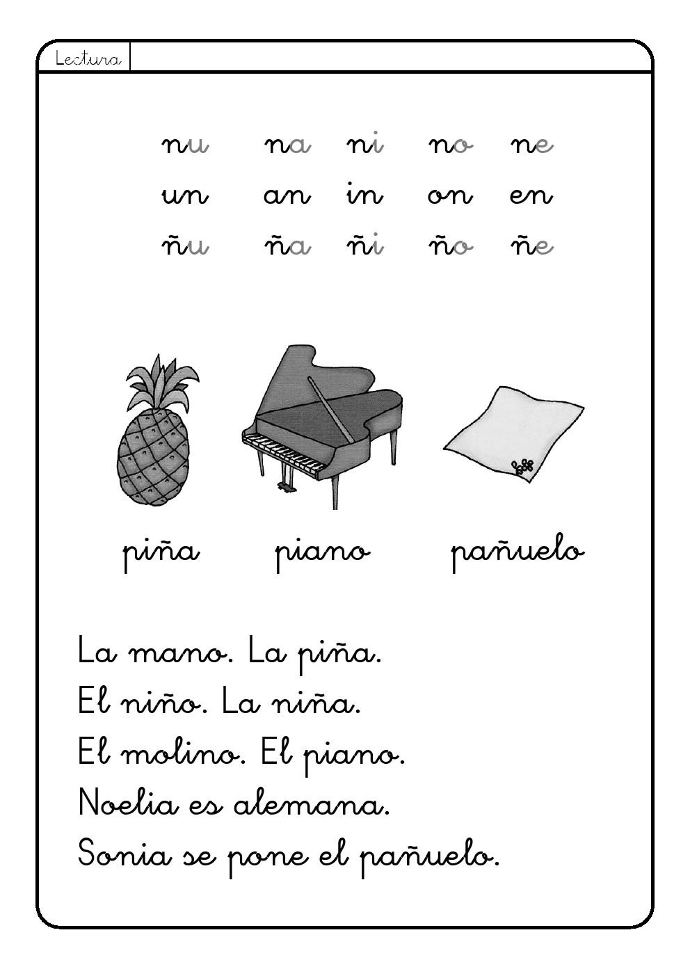 Letra n n la eduteca for L practicas