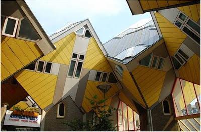 Cubic Houses - Rotterdam - Países Bajos. lugares sorprendentes. los edificios mas extraños del mundo. edificios extraños
