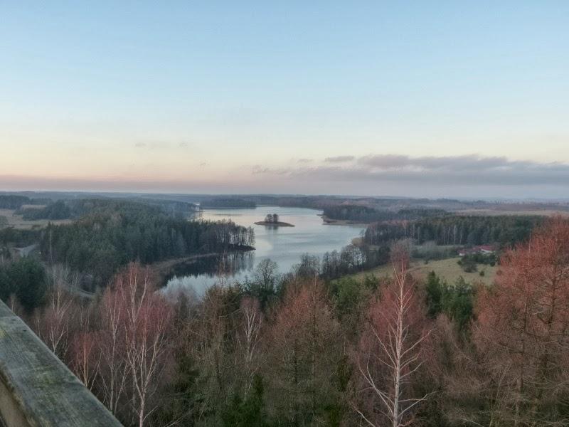 Stare Juchy, widok z wieży widokowej, jezioro Jędzelewo