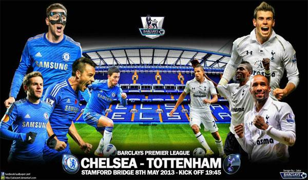 Keputusan Liga Perdana Inggeris (EPL) 8 dan 9 Mei 2013 - Chelsea vs Tottenham