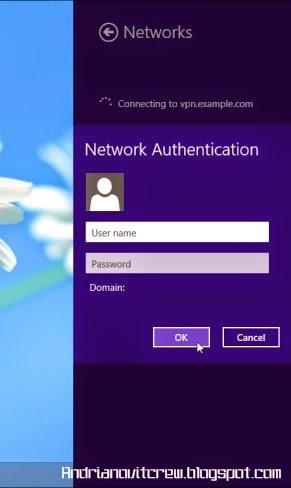 Cara Menggunakan VPN Di Windows 8 d