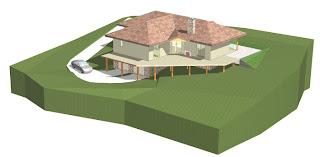 dom z bala drewnianego parterowy podpiwniczenie rustyk projekt dobry architekt