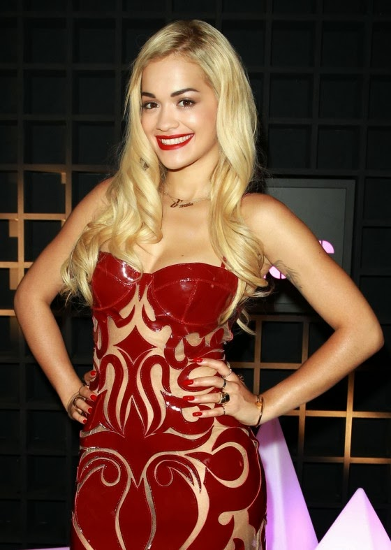 Rita Ora Hot in Red Dress