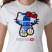 Hello Kitty Star Wars T-Shirt with R2D2