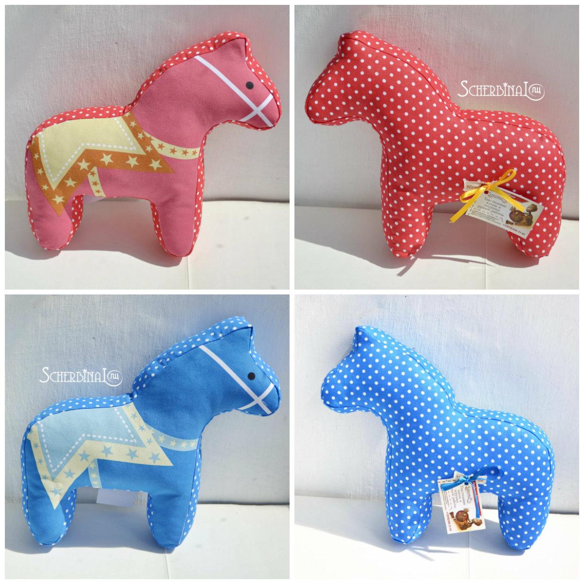 игрушки-подушки, лошадки, ручная работа