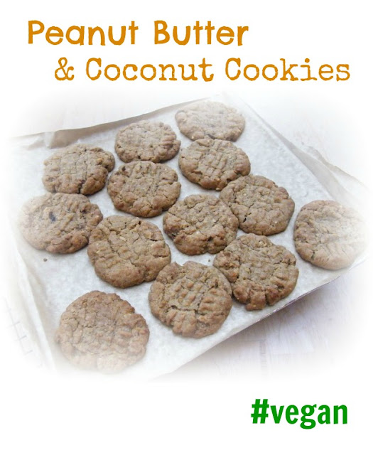 Vegan Peanut Butter and Coconut Cookies - Tinned Tomatoes
