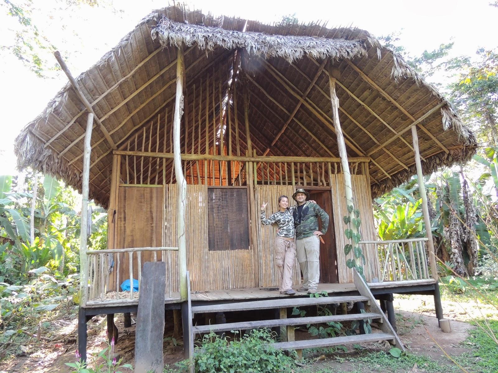 cabaña en la selva