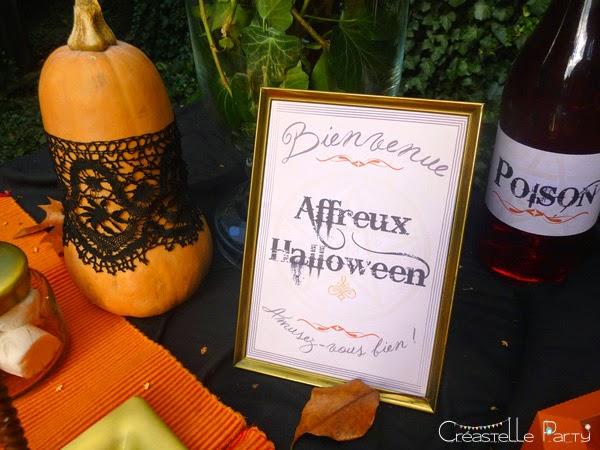 affichette bienvenue Halloween sweet table - witch / sorcière