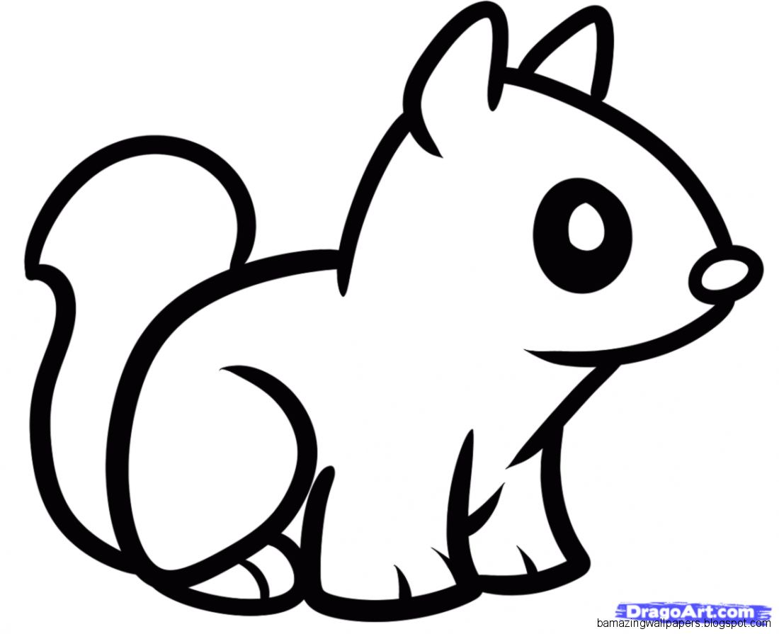 Cute easy animal drawings amazing wallpapers for Baby drawing easy