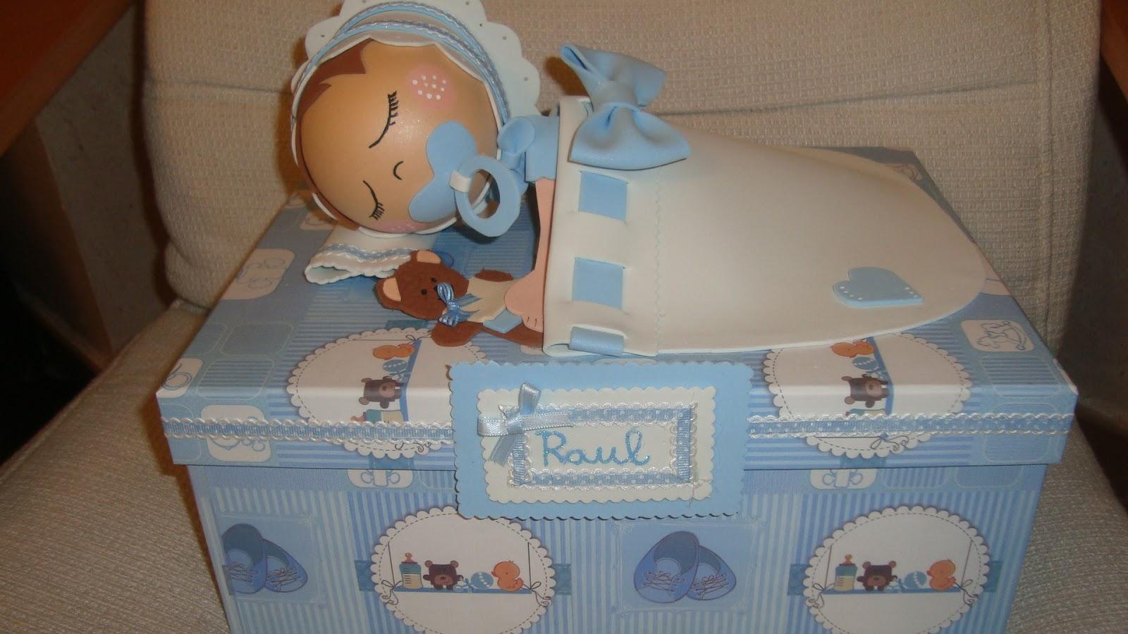 El baul de las manualidades cajas de regalo de carton - Cajas decoradas para bebes ...