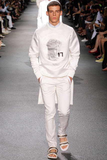 Male model on the runway S/S 2013 Menswear Givenchy