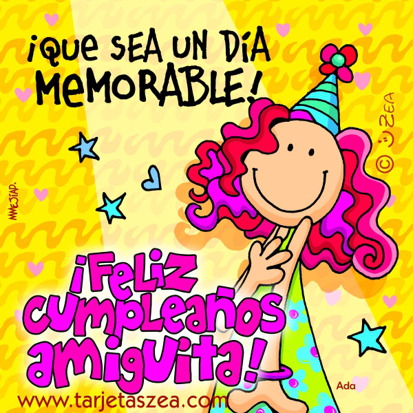 Tarjetas de Cumpleaños para Felicitar a una Amiga - ツ Tarjetas de ...