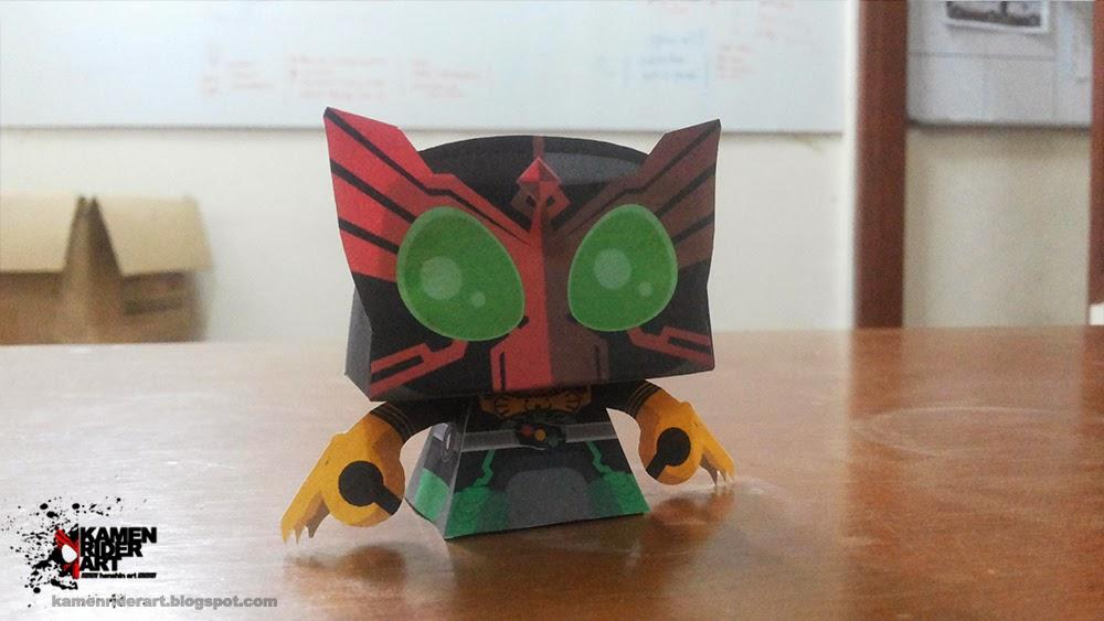 Kamen Rider OOO Paper Toy