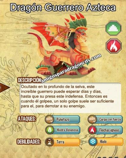 imagen de las caracteristicas del dragon guerrero azteca