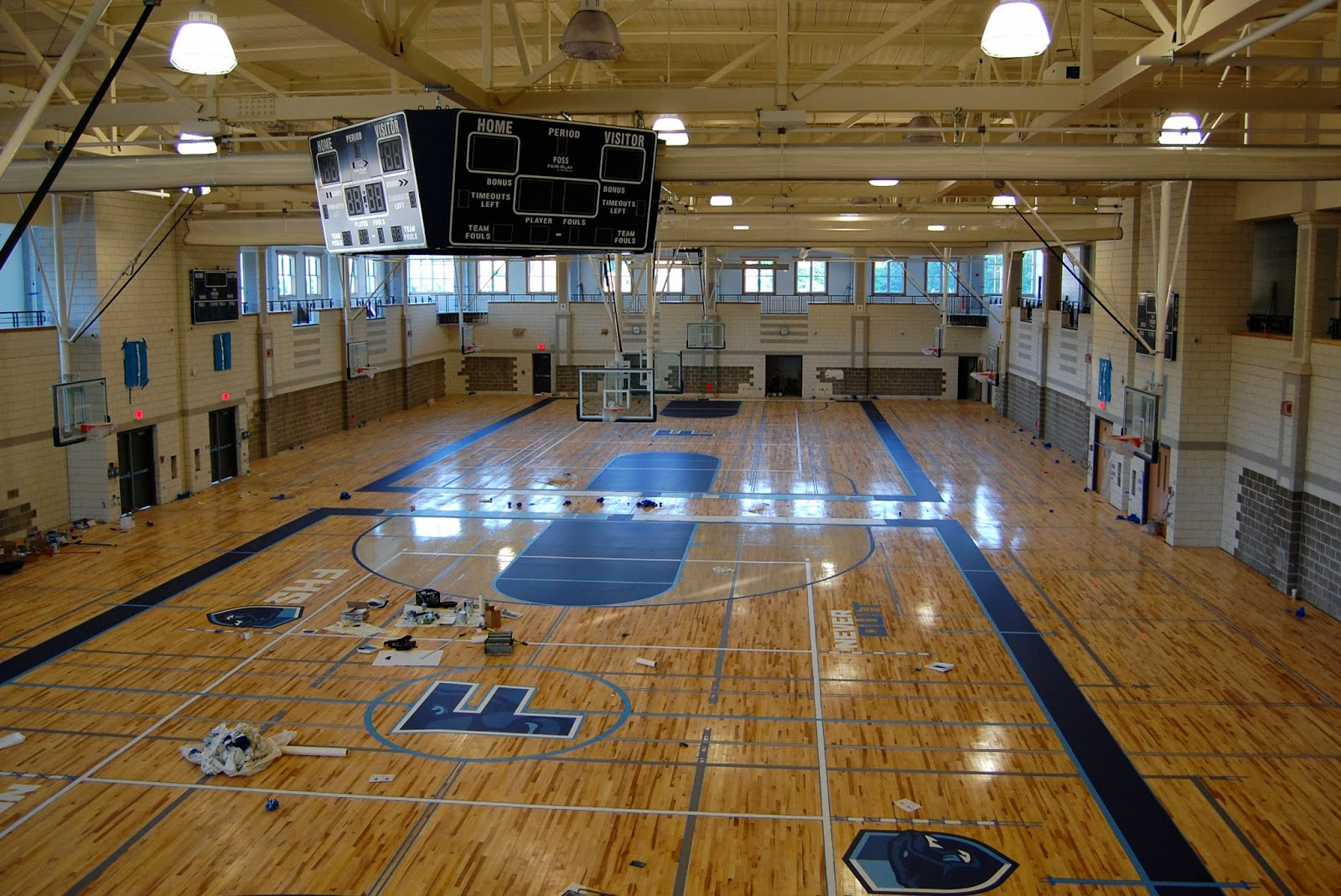 Franklin matters inside the new fhs part 2 of 2 for Basketball gym dimensions