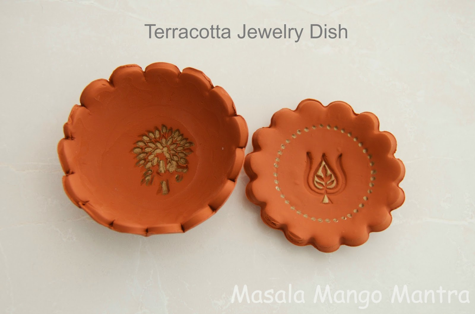 masala mango mantra diy terracotta jewelry dish holder